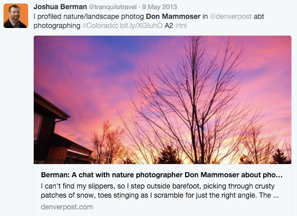Nature Photographer Don Mammoser Photographing Colorado